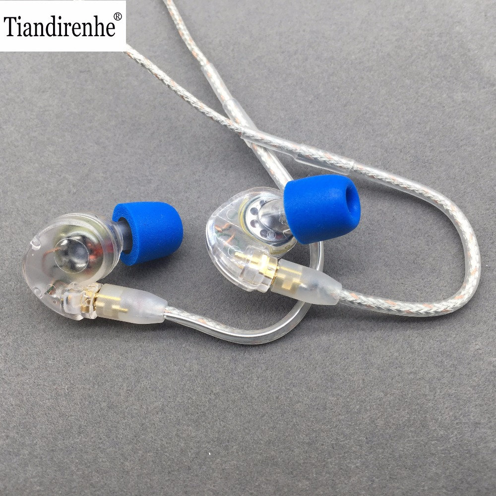 Tiandirenhe TH20 Dynamic MMCX Earphone for Shure SE215 SE535 SE846 High Quality Cable 10mm Units HIFI Customized Sport Headset