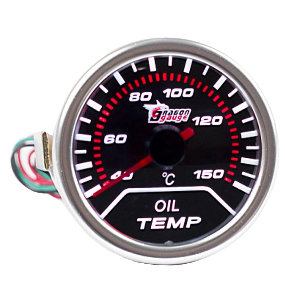 Наддув/вакуум/Температура воды/Температура масла/Масляный Пресс/Напряжение/Тахометр/соотношение воздушного топлива/EGT датчик+ манометр стручки 52 мм Аналоговый светодиодный белый корпус - Цвет: OIL TEMP GAUGE