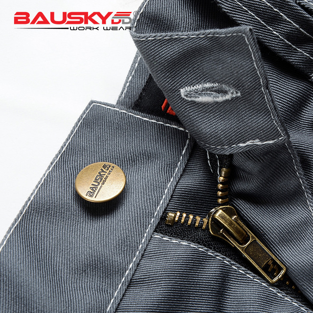 Bauskydd Mens carperner 100% cotton durable multi pockets work trousers with eva  knee pads work pant workwear  free shipping 4