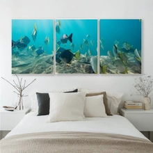 3 Pieces Canvas Art HD Print Home Decor Underwater world Paintings For Living Room Decoration Wall Art Poster Picture Home Decor wall art canvas print back to the future 1 2 3 hot movie poster for living room decor bar decoration