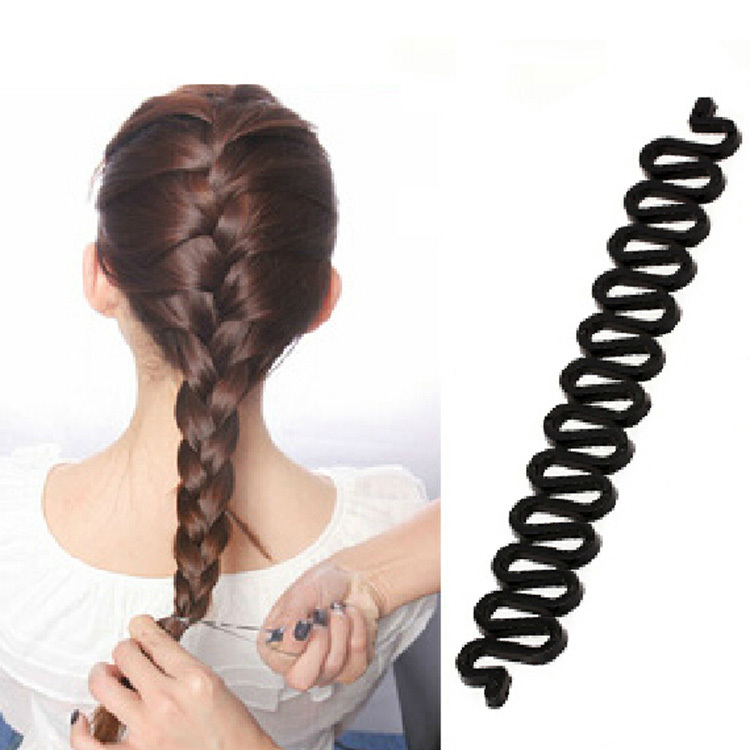 New Arrival Fashion Hair Styling Tools Useful Centipede Braid Device Hair Accessories Black