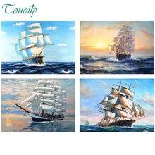 TOUOILP корабль алмазов картина вышивки крестом Рукоделие Ремесло Подарок DIY 5D Алмазная мозаика вышивка пейзаж узоры горный хрусталь