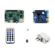 Modules Raspberry Pi 3 Package B including Raspberry Pi 3 Model B with Expansion Board Pioneer600 and 16GB Micro SD card & IR Co