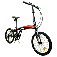 [tb10]20 inch aluminum alloy folding speed bicycle ultra light portable adult men and women student bicycle