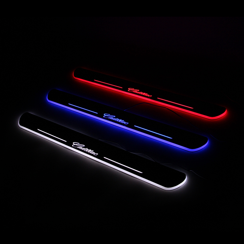 Led Door sill for Cadillac CT6 2016 2017 LED Moving light Door scuff plate welcome pedal accessories-in Car Light Assembly from Automobiles \u0026 Motorcycles on ... & Led Door sill for Cadillac CT6 2016 2017 LED Moving light Door scuff ...