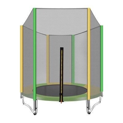 1.5 M rond enfants adultes Mini Trampoline clôture filet Pad rebondeur exercice extérieur jouets à la maison lit sautant charge maximale 200 KG PP, alliage