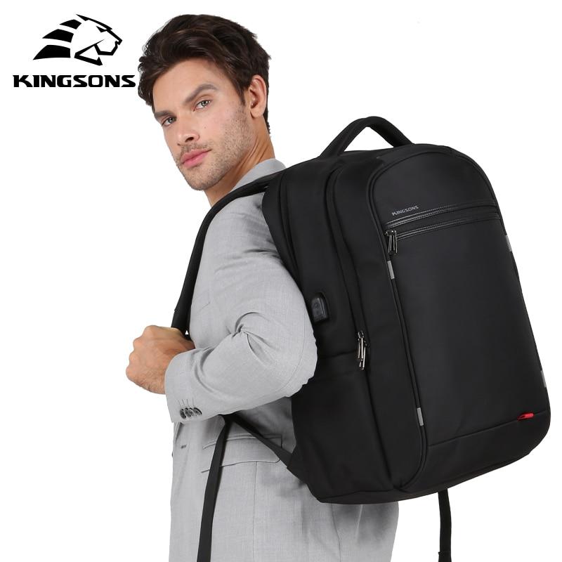 Kingsons 17 inch Men backpack USB charge laptop travel anti theft bagpack school bag for boy 2018 mochila backpack male все цены