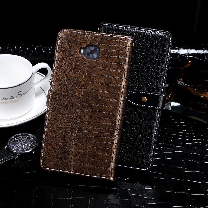 Case For Asus ZB553KL Case Cover Crocodile Grain Flip Leather Case For Asus ZenFone 4 Selfie ZB553KL Cover Business Phone Case