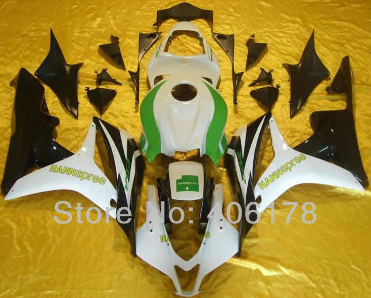 Hot Sales,For Honda 07 08 CBR600RR F5 2007 2008 Race Bike Hannspree Motorcycle Fairing Kits for motorcycles (Injection molding)