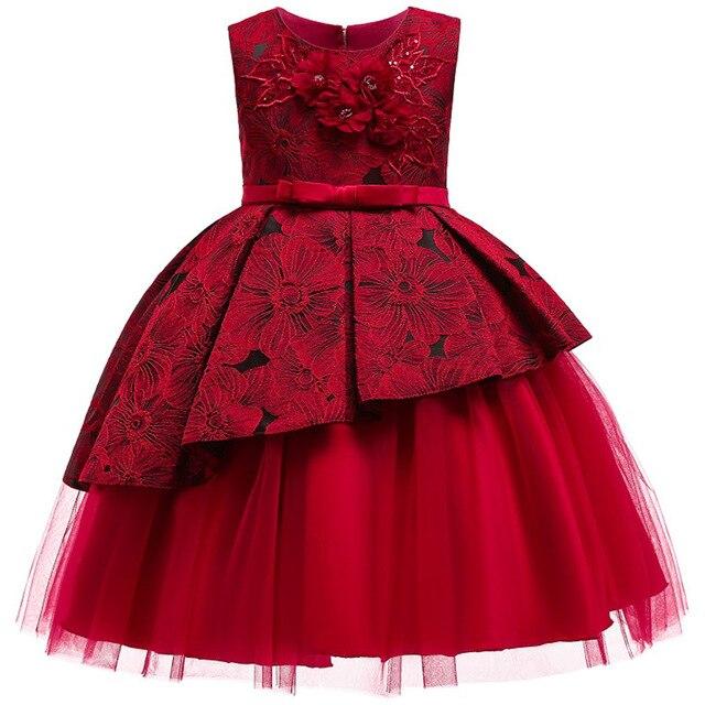 b3b1548f78e8 2019 niñas vestido bebé niña princesa ropa para cumpleaños tul niñas fiesta  Vestidos disfraz para edad