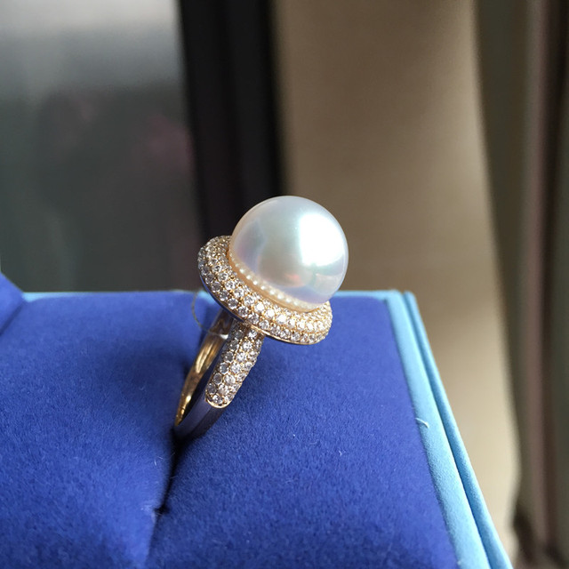 Eternal Wedding Women Gift Word 925 Sterling Silver Real Permanent Natural Pearl Ring Circle 13