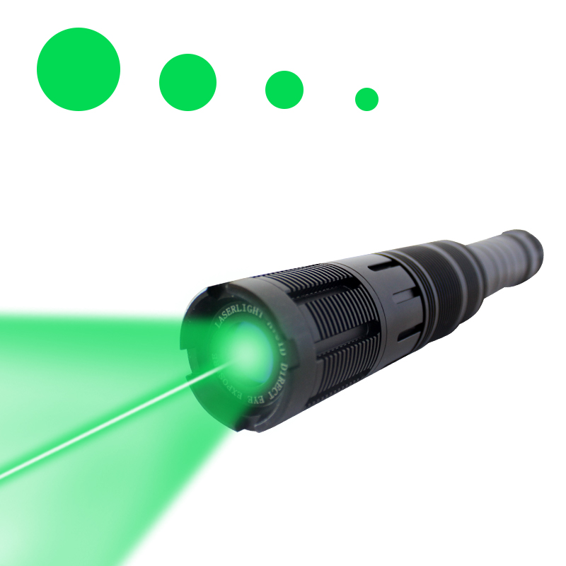 Outdoor Camping Zoomable Laser Flashlight High Power 300mw Tactical Long Range 532nm Laser Beam Adjustable Laser Designators