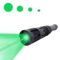Outdoor Camping Zoomable Laser Flashlight High Power 300mw Tactical Long Range 532nm Laser Beam Adjustable Laser Designators