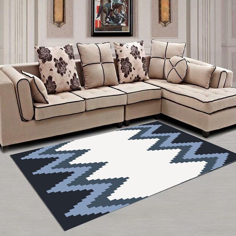 Simple style nordique table basse salon tapis chambre chevet plein de belles chambres rectangulaire imprimé tapis maison moderne
