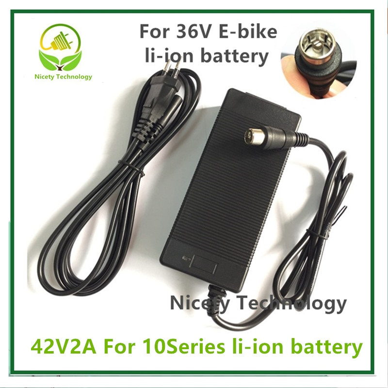 42V2A Charger Electric Bike Lithium Battery  Charger For 36V Lithium Battery Pack  RCA Plug charger