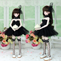 New Arrival Sexy Sweet Black Lace Princess Dress/Skirt(4pc) for 1/4 MSD DOC BJD Clothes