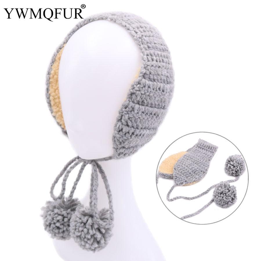 Kids Girls Boys Winter Warm Faux Plush Patterned Snowflake Deer Ear Warmer Knitted Adjustable Earmuffs