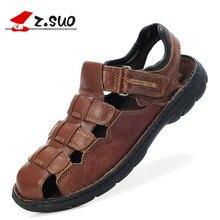 Real Leather Big Size 39-48 Men Summer Sandals Fisherman Shoes For Men's Brand Designer Stylish Comfort Seaside Beach Flats 2017
