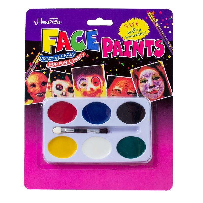 Painting Palette 6 Colors Face Body Makeup For Halloween Party