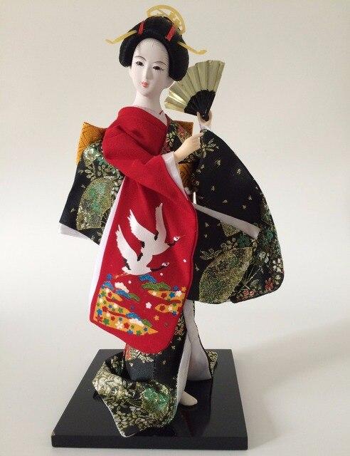 30 cm Jepang Geisha Boneka Humanoid Resin Patung Gadis Hari Kimono Gadis  Belle Patung Koleksi Hadiah 903388c861