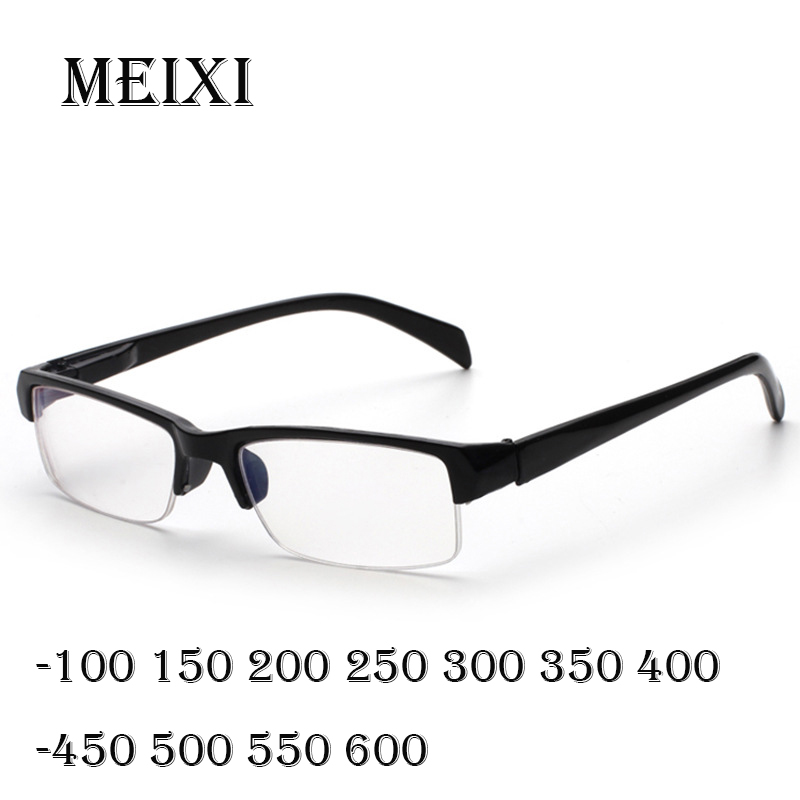 Blue Film Retro Business Casual Simple Economy Nearsighted Glasses Resin Nearsight Men Shortsighted Myopia -1. 1.5 4.5 5 5.5 6