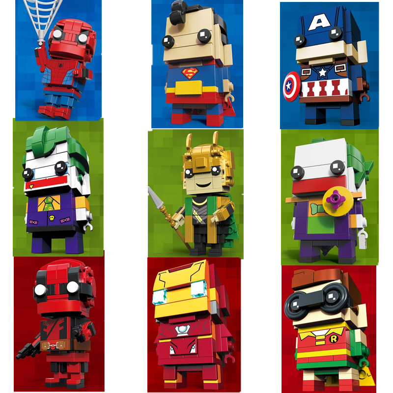 Brickheadz Avengers 3 Infinity War Marvel Spuer Hero Brick Heads Building Blocks Kids Toys Compatible With Legoinglys Loki hot compatible legoinglys batman marvel super hero movie series building blocks robin war chariot with figures brick toys gift