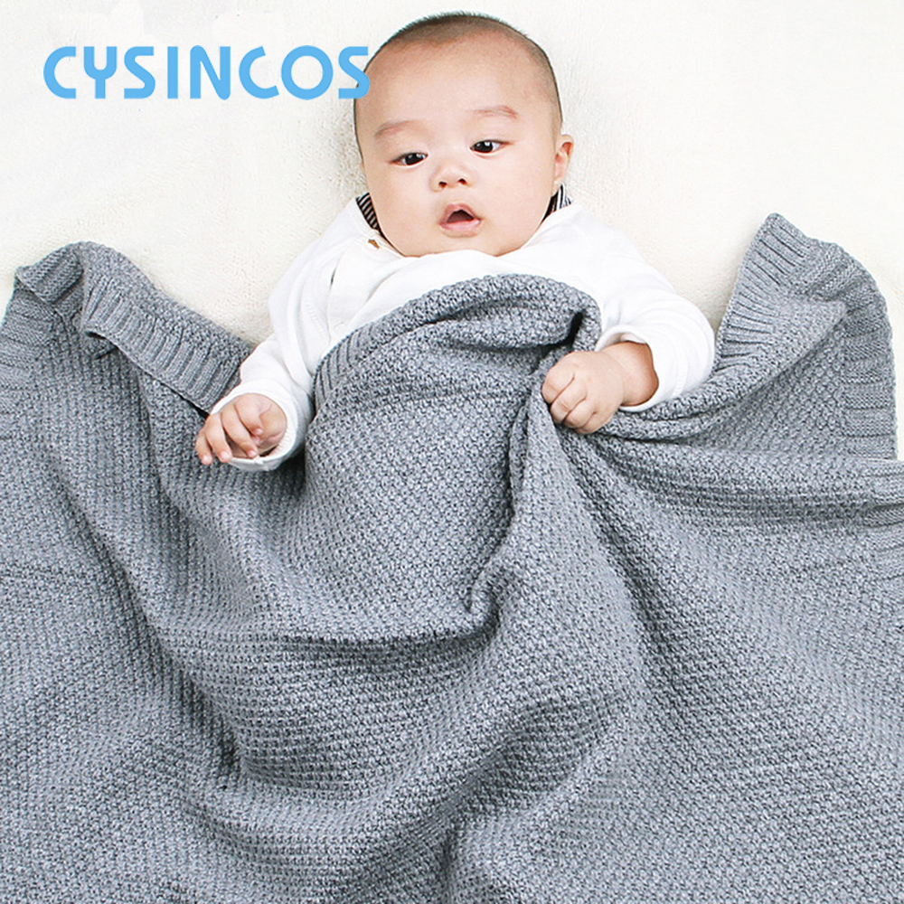 Knitted Baby Blanket Newborn Swaddle Wrap Soft Infant Toddler Sofa Bedding Sleeping Blankets Baby Outdoor Stroller Accessory
