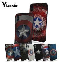7476eab6bba Yinuoda Capitán América escudo Marvel nice fundas de teléfono para iphone 6  6 s 6 plus