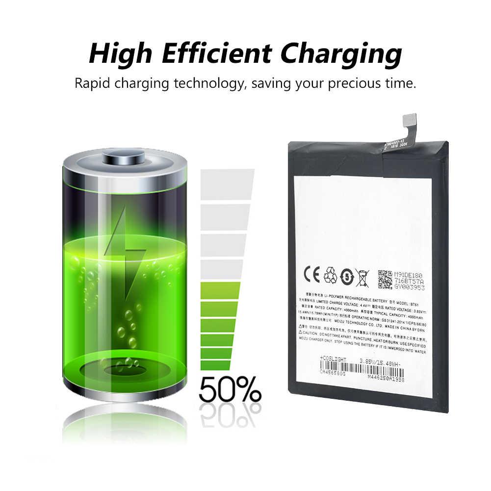 3.85 v 4000 mah bt61 wymiana baterii telefonu bt-61 bt 61 na meizu m3 note telefon komórkowy bateria litowa akumulator