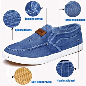 Image 3 - Summer Canvas Shoes Men Sneakers Casual Flats Slip On Loafers Moccasins Male Shoes Adult Denim Breathable Gray Zapatos Hombre