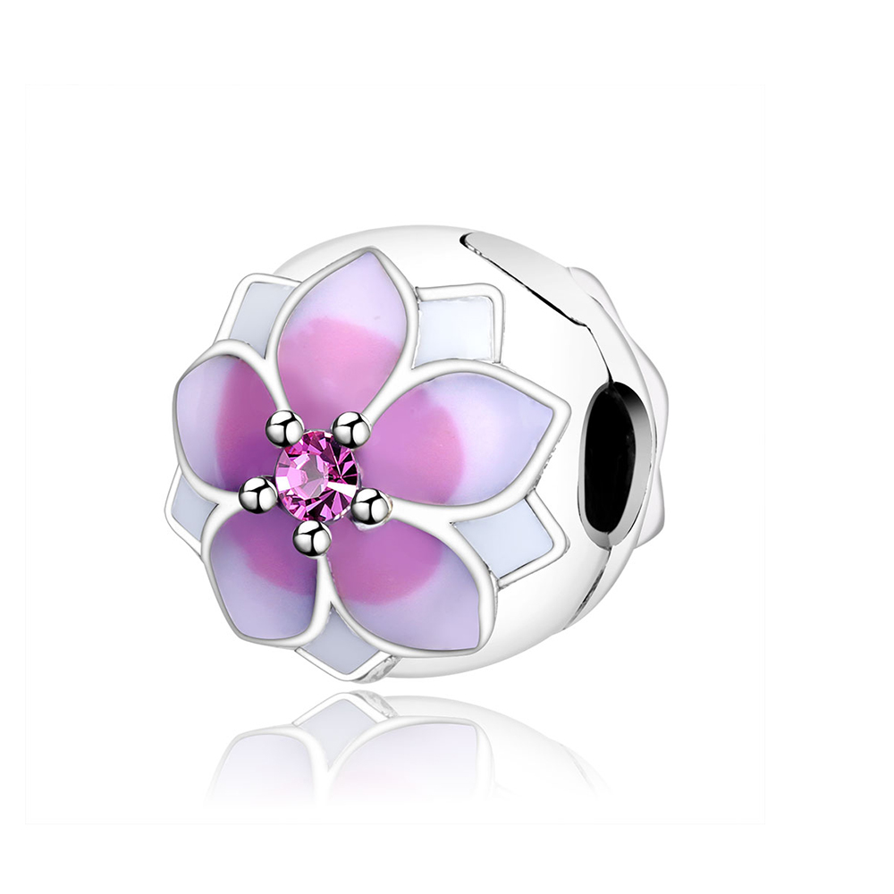 2017 Spring Style 925 Sterling Silver Lotus Flowers Clips