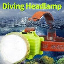 SHENYU LED Diving Headlamp Waterproof Lamp Rechargeable USB 500 Lumen XM-L 60m Swimming Light Underwater Lantern