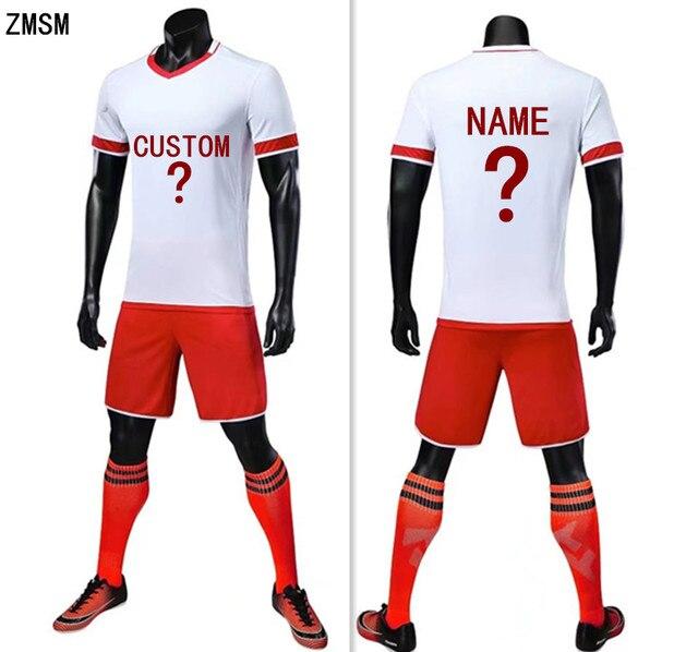 e2bd6f793d8 ZMSM 2018 High-end soccer jerseys Sets Men s Football Training Suit Custom  Soccer uniforms Adult Football Suit Sportswear S6019