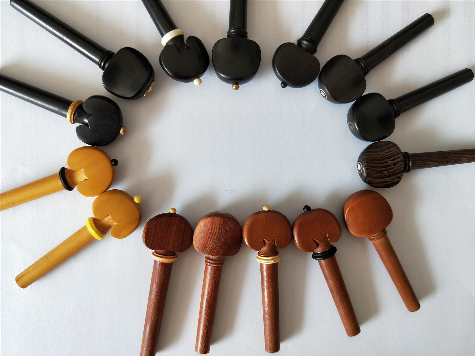 1 PC Quality Violin Peg 4/4 Different Wood Violin Parts