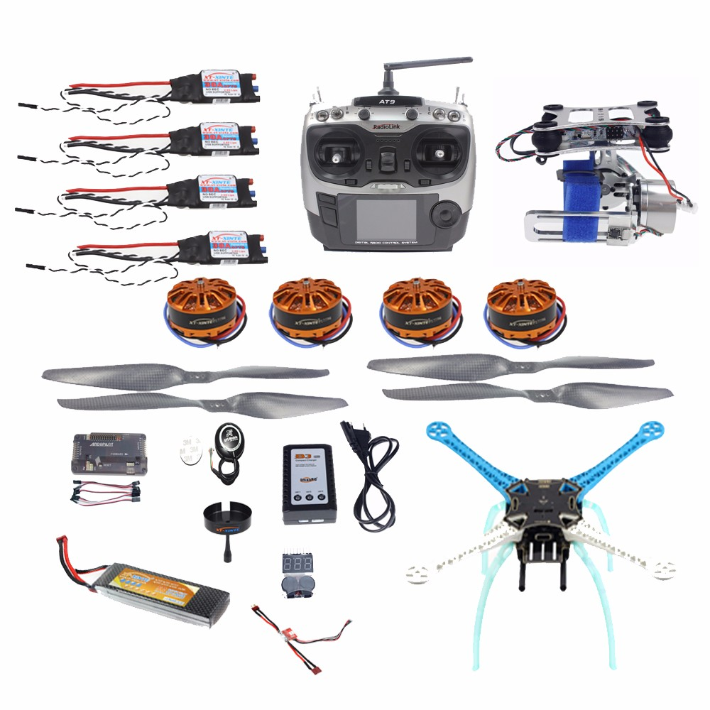 JMT High-powered DIY GPS Drone APM GPS M8N 700KV 30A 4400MAH 30C 4-Axis Aircraft Racer with Camera Gimbal PTZ