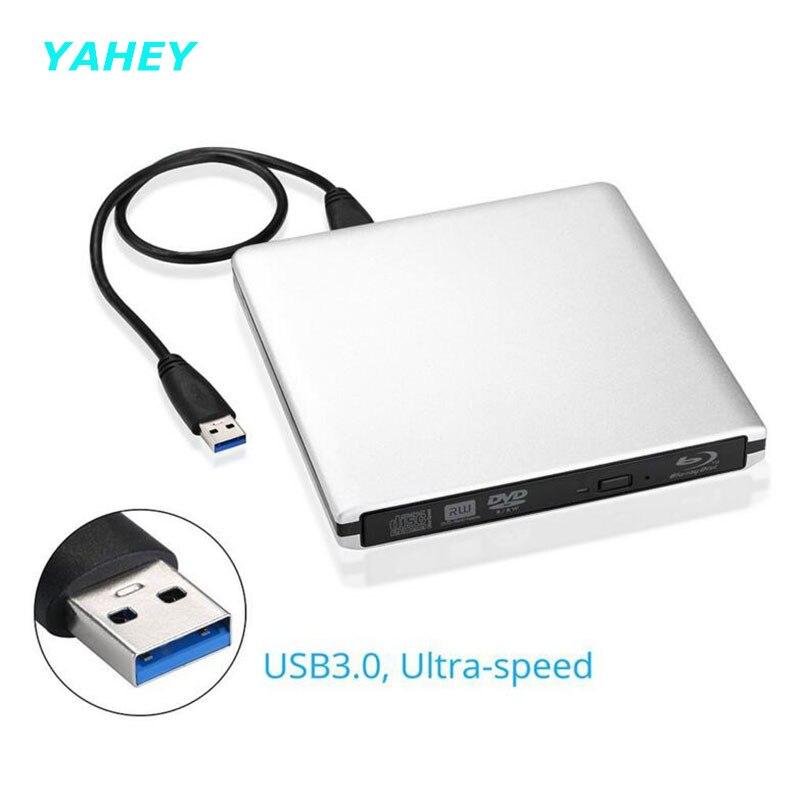 ФОТО [Ship from Local Warehouse] Bluray Player USB3.0 External CD/DVD RW Burner Writer BD-ROM Blu-ray Drive for Apple Macbook Laptop