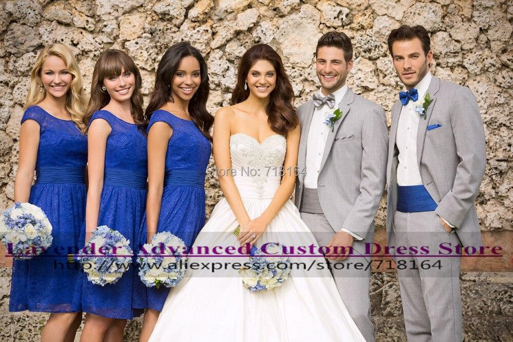 Aliexpress.com : Buy Vestido de festa royal blue short lace ...