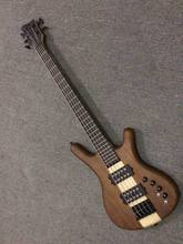 New arrival 5 String electric bass guitar through neck electric bass in natural 150520