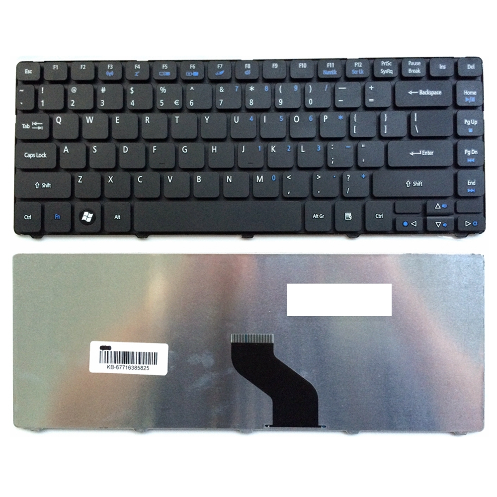US BlackNew English Laptop Keyboard For Acer 4738ZG 3810TG 3810T 4736 4736zG 4736G For Aspire 4750G 4743G 4752 4752G MS2347