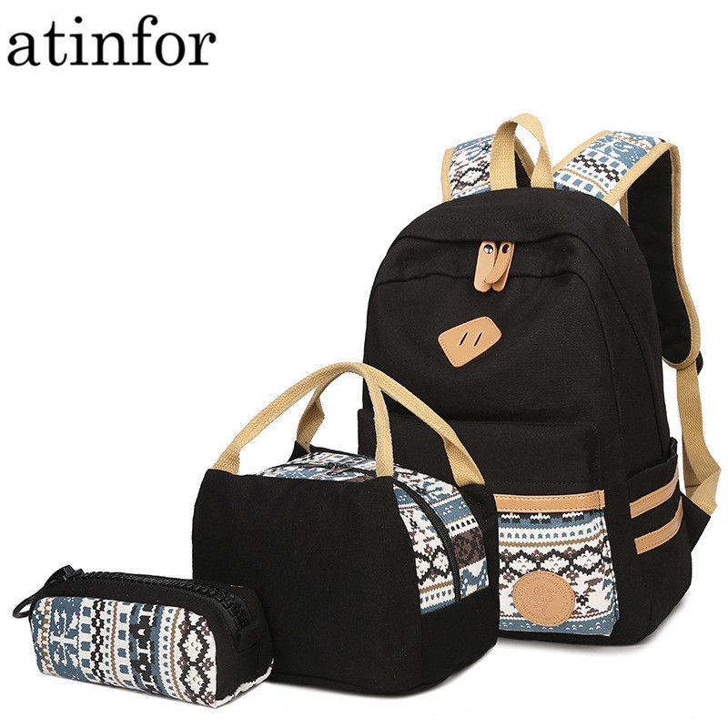 Female Casual Preppy Style Canvas Women Travel Backpack Junior High School Students of Teens Girl for Lunch Box Bag PencilFemale Casual Preppy Style Canvas Women Travel Backpack Junior High School Students of Teens Girl for Lunch Box Bag Pencil