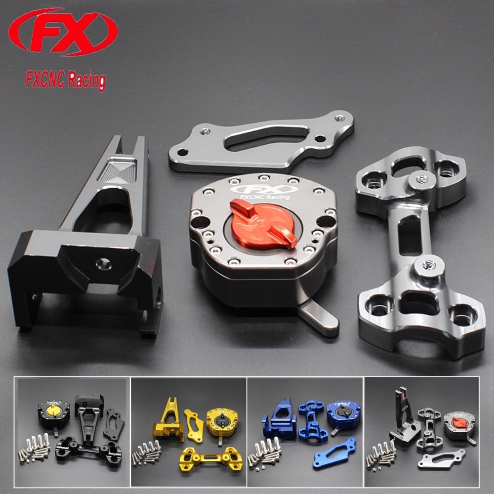 For Yamaha MT09 FZ09 MT-09 FZ-09 2014 - 2018 17 16 15 CNC Motorcycle Steering Stabilize Damper Bracket Mount Mounting Holder Kit