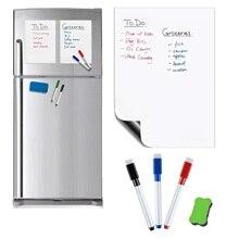 цена Flexible Magnetic Whiteboard Fridge Magnets Dry WIPE White Board Marker Pen Eraser Kitchen Message Board Reminder Smart Notepad онлайн в 2017 году