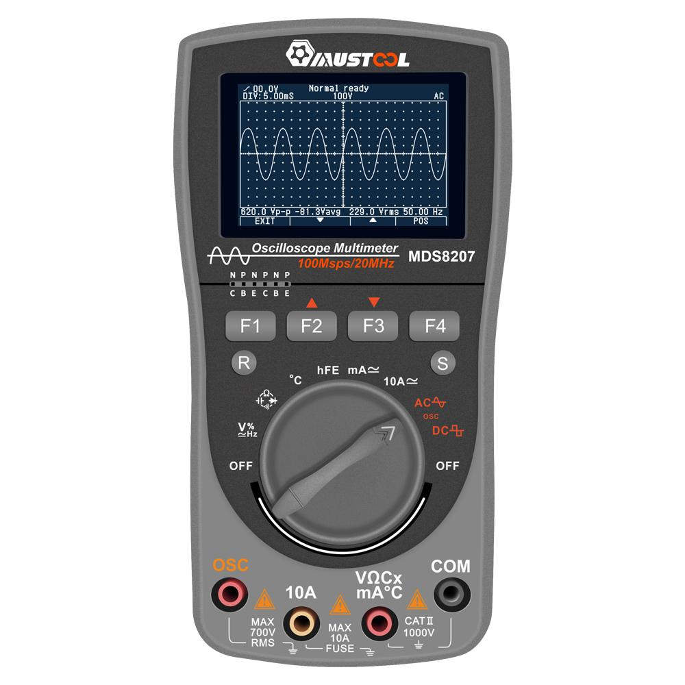 Image 3 - MUSTOOL NEWEST MDS8207 2in1 Intelligent Digital Storage Oscilloscope Multimeter One Key AUTO Oscilloscop Tester with Analog Grap-in Multimeters from Tools