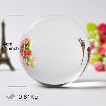 60/70/80MM Photography Crystal Ball Ornament FengShui Globe Divination Quartz Magic Glass Ball Home Decor Sphere bola de cristal 1