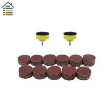 112PC 25mm 40-600 Mixed Grit Sanding Disc Sander Polishing Accessory 2.3mm Shank Grinder Pad Abrasive Tool Set for Dremel 4000