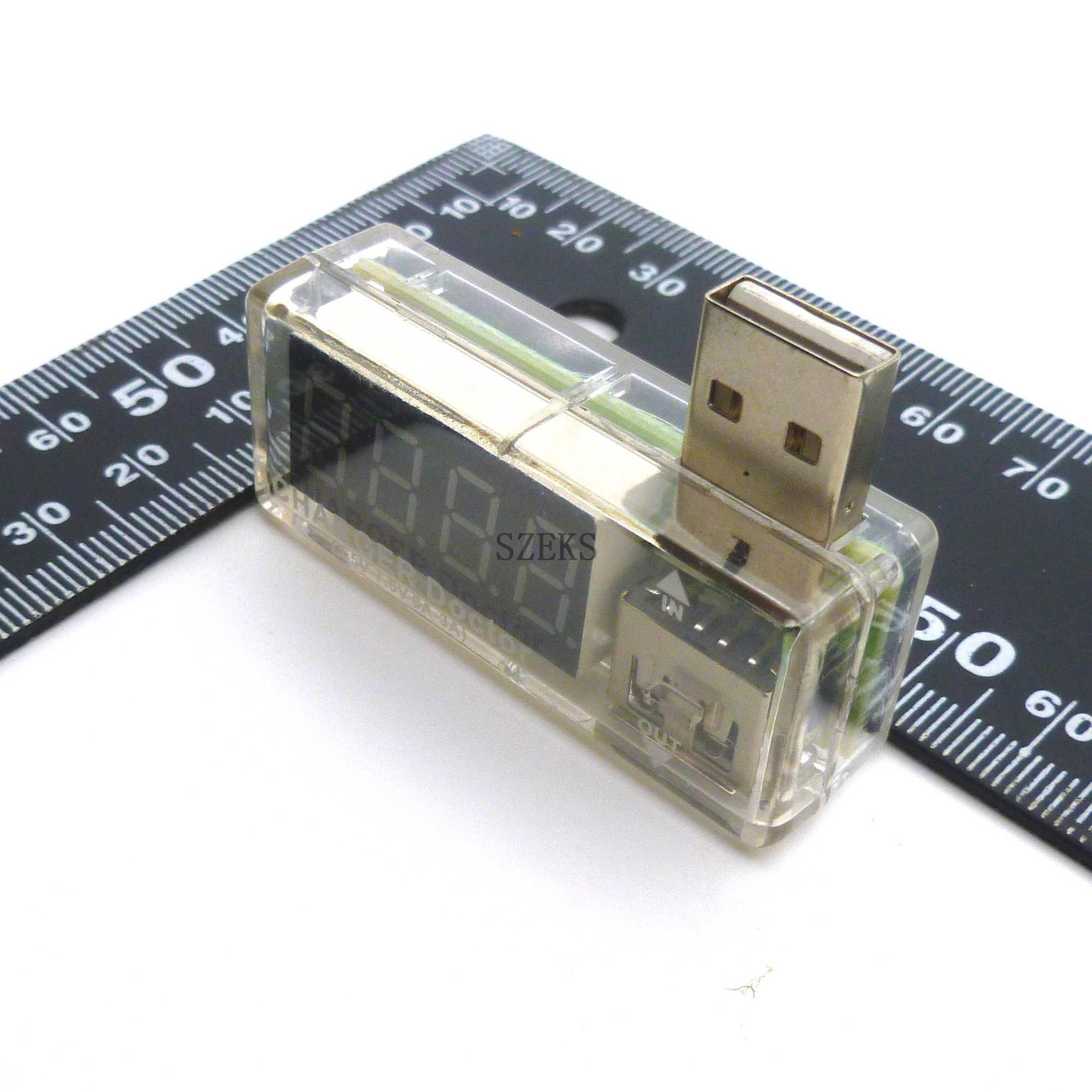 Appareil de contrôle de tension de courant de charge de puissance Mobile USB numérique blanc Mini USB chargeur médecin voltmètre ammete