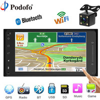 Podofo Car Radio GPS Navigation 7 HD 2 Din MP5 DVD Player WIFI Autoradio Car Audio