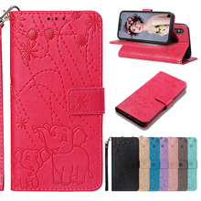 Magnetic Emboss elephant Flip PU Leather Cases For Samsung Galaxy S8 S9 S10e S10 Lite Plus M10 M20 Note 9 Wallet card Slot Case