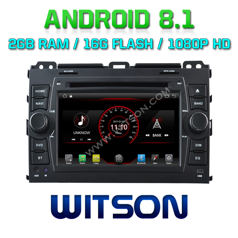 WITSON Android 8.1 CAR DVD PLAYER For TOYOTA PRADO 120 CAR AUDIO PLAYER WITH GPS MIRROR LINK/ 4G/DVR/DAB/OBD/TPMS SUPPORT