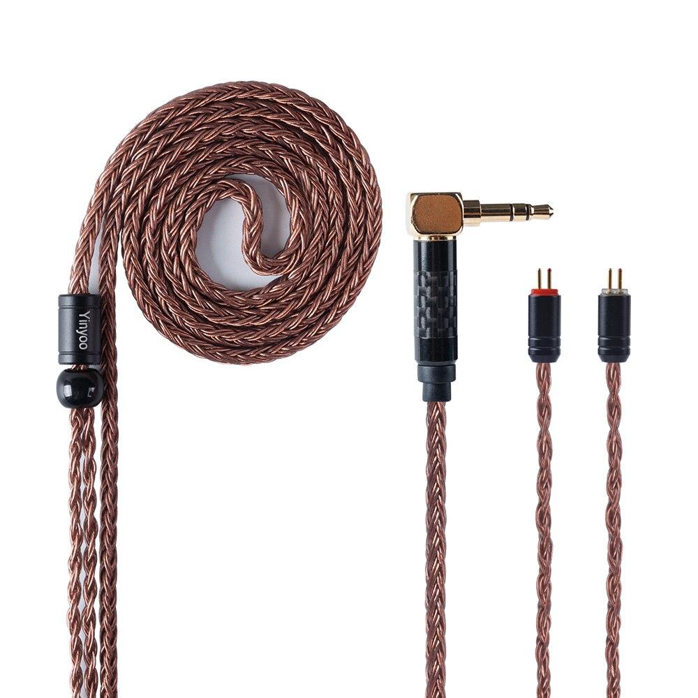 Câble équilibré en cuivre monocristallin d'importation de noyau de Yinyoo 16 2.5/3.5mm avec le connecteur de MMCX/2pin pour LZ A6 ZS10 AS10 AS16